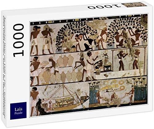 Pintor egipcio alrededor de 1500 aC Chr. - Cámara funeraria de un desconocido, escenas de diseño de pared