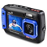 #7: Ivation 20MP Underwater Shockproof Digital Camera & Video Camera w/Dual Full-Color LCD Displays - Fully Waterproof & Submersible Up to 10 Feet (Blue)