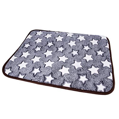 Pinji Hunde Kühlung Schlafmatte Kühlmatte Hundekissen Hundebett für Hunde Katzen, Grau/Weiß XXL