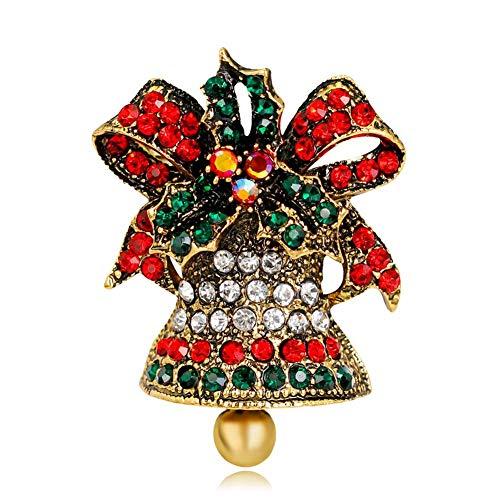 rosche Pin Weihnachtsbaum Geformte Rhinestone Frau Brosche - Stil Ist Es Modisch, Klassisch Und Einfach Passend - Ideal Für Weihnachten Tag ()
