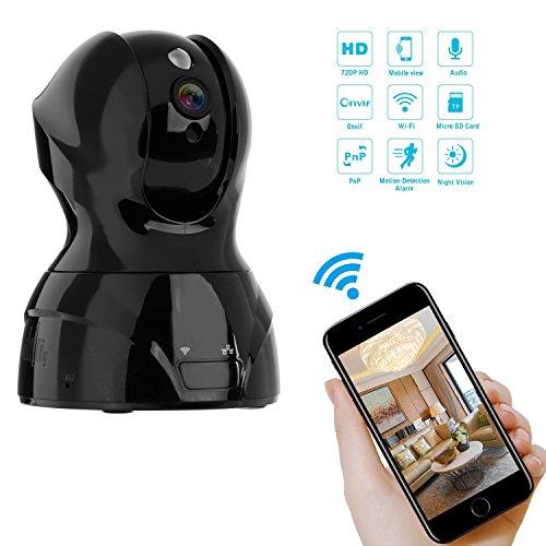 NEXGADGET IP Cámara de Seguridad Inalámbrica HD 720 P WiFi Interior Vigilancia del Monitor con Detección de Movimiento Micrófono Altavoz Visión Nocturna y Notificación en Tiempo Real