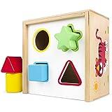 ColorBaby - Cubo actividades de madera, 6 piezas (42754)