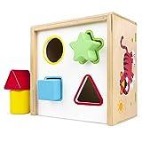 ColorBaby - Cubo actividades de madera - 6 piezas (42754)