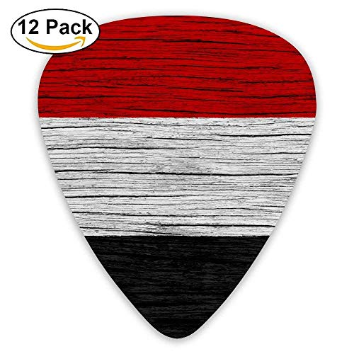 Yemen Wooden Texture Yemeni Flag Guitar Pick 12pack (Picks R5)