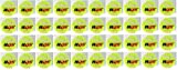 40 x AQS Tennis Balls Bright Green For Pets Puppy Play Dog Toys Bouncing Ball Indoor / Outdoor