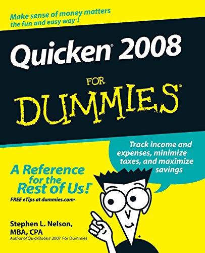 Dummies Quicken (Quicken 2008 For Dummies)