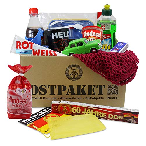 """Ostpaket """"Kultprodukte groß"""" mit 13 typischen Produkten der DDR Geschenkidee Intershop Ostprodukte DDR Kultprodukte"""