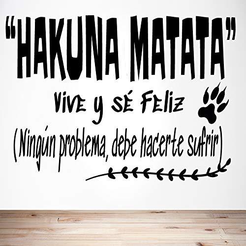 """Docliick® Frase Vinilo habitación infantil de cuento""""HAKUNA MATATA,"""