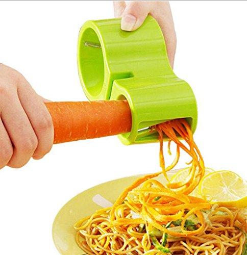 TWIFER Premium Spiralschneider Hand für Gemüsespaghetti kartoffel, Zucchini Spargelschäler, Gurkenschneider, Gurkenschäler, Möhrenreibe Möhrenschäler, Gemüsehobel