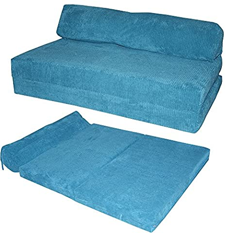 JAZZ SOFABED - OCEAN CORD Deluxe Designer Double Sofa Guest Bed (Teal)