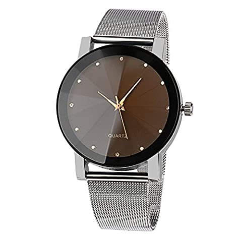 Fami Mode féminine cristal en acier inoxydable montre-bracelet à quartz