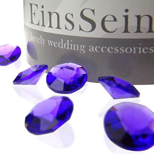 ntkristalle 12mm lila EinsSein® Dekoration Dekosteine Diamanten FUNKELNDE Diamantkristalle Streudeko Konfetti Tischdeko Hochzeit (Lila Und Creme-hochzeit)