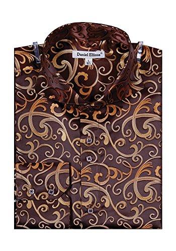 Sunrise Outlet -  Camicia da cerimonia  -  Vestito modellante  - Uomo Marrone