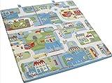 roba Spiel-& Krabbelmatratze 'Fahrzeuge', Babymatratze 60x120cm, klappbar zu Spielmatte & Krabbelunterlage 120x120cm,