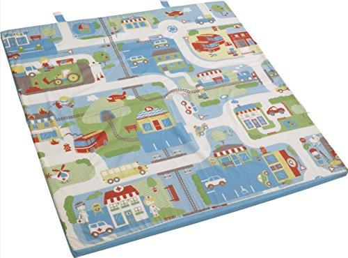 Preisvergleich Produktbild roba Spiel-& Krabbelmatratze 'Fahrzeuge', Babymatratze 60x120cm, klappbar zu Spielmatte & Krabbelunterlage 120x120cm,