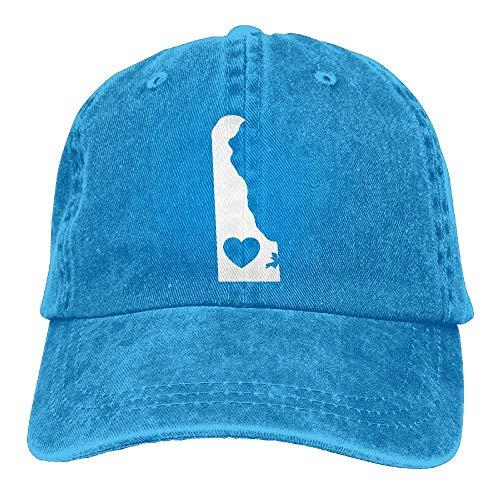 54af7664ea6 Berretto da Baseball Delaware Heart-2 Uomini Snapback Casquettes Polo Style Low  Profile Multicolor65