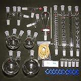 Kit di strumenti di vetro chimico professionale del laboratorio, dispositivo di purificazione di distillazione del filtro dall'olio essenziale dell'olio di scienza industriale Forniture d'istruzione
