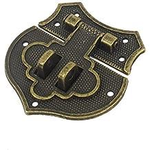 Joyero DealMux metal Maleta antigua del tono Latch Case pecho Bloqueo de bronce