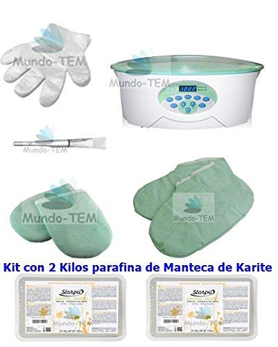 Mundo-TEM Calentador Fundidor de parafina Digital+ Kit Completo, 2 Kilos de...