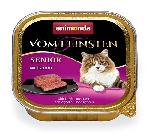 animonda Vom Feinsten Senior Nassfutter, für ältere Katzen ab 7 Jahren, mit Lamm, 32 x 100 g