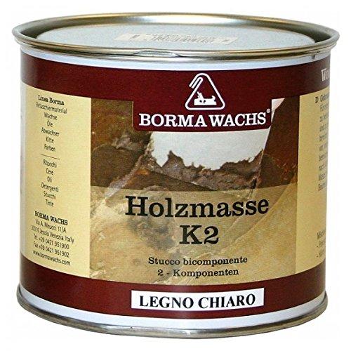 Ellas-Wohnwelt Reparaturspachtelmasse 2K Spachtel Holzkitt Holzmasse Borma 750 ml K2 für helles Holz