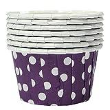 TOOGOO(R) Lila Wave-Punkt Cupcake Muffinform Papierforrmchen Hochtemperaturbestaendig 100Stueck