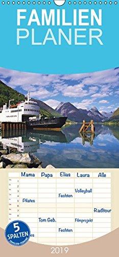 Norwegen - Familienplaner hoch (Wandkalender 2019 , 21 cm x 45 cm, hoch): Die Landschaft Norwegens in stimmungsvollen Bildern. (Monatskalender, 14 Seiten ) (CALVENDO Orte)