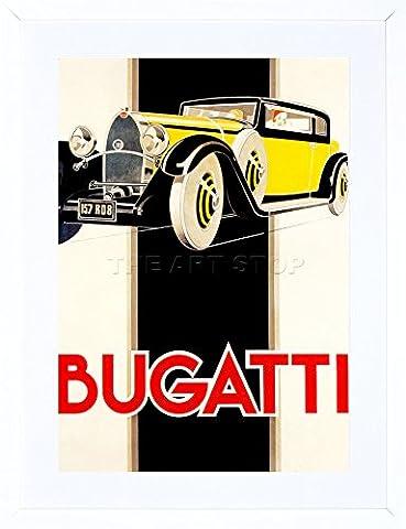 9x7 '' AD 1930 BUGATTI CLASSIC CAR FRAMED ART PRINT PICTURE MOUNT PHOTO F97X033
