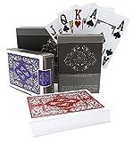 2x Carte da poker in plastica professionali con design impermeabile di Bullets Playing Cards con quattro segnapunti - Mazzo di carte Deluxe con indice Jumbo - Carte da gioco Premium professionali per il Poker Texas Holdem