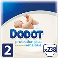 Dodot Protection Plus Sensitive - Pañales, Talla 2 (4-8 kg),  238 pañales (7 x 34 pañales )