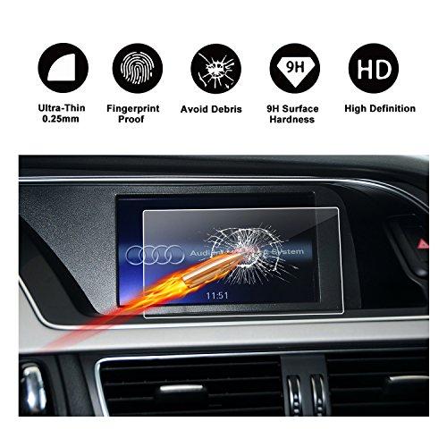RUIYA Proteggi schermo in vetro temperato per (2007-2015) Audi A5 RS5 8T Q5 SQ5 A4 S4 allroad quattro B8 MMI Sistema di navigazione,Pellicola protettiva HD[6,5 pollice]