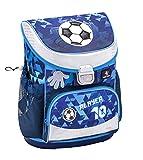 Belmil Ergonomischer Schulranzen Jungen 1. Klasse mit Brustgurt - Super Leichte 765-820 g/Grundschule/Fußball Football/Blau (405-33 Player)