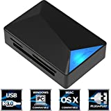 Sabrent USB 3.0 Super Speed ​​4 fente Lecteur de Carte de Mémoire pour Windows, Mac et Linux - Prend en charge les SD, SDHC, SDXC, MMC / MicroSD, T-Flash / MS, MS PRO Duo / CF et plus (CR-BMC3)
