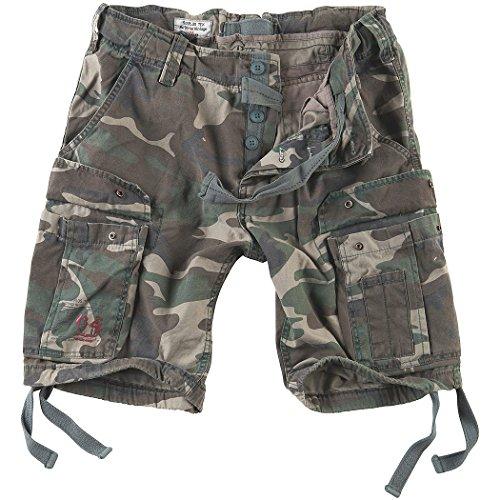 Surplus Hombres Airborne Vintage Pantalones Cortos Lavado Woodland tamaño XL
