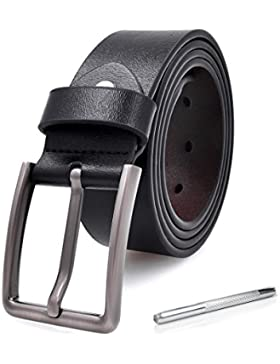 Cinture uomo pelle cuoio nera vintage fibbia casual reversibile regolabile jeans vera in pelle