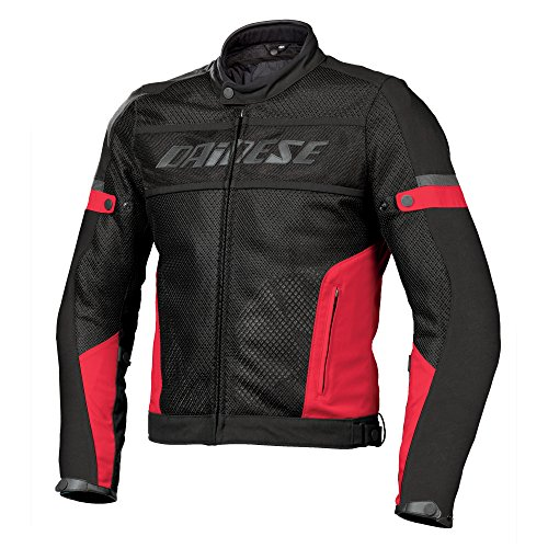 Cazadora Dainese Air Frame Tex – Black/Red – negro