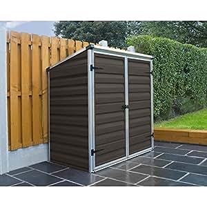Palram Skylight Voyager Brown Shed Wheelie Bin Store Bike Shelter Ideal Garden Furniture Waterproof Storage