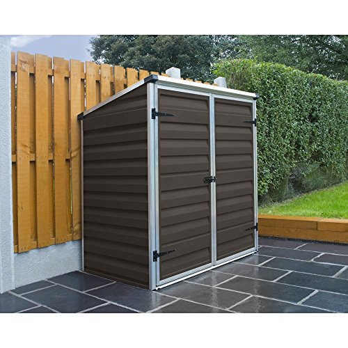 Palram Skylight Voyager Brown Shed Wheelie Bin Store Bike Shelter Ideal Garden Furniture Waterproof Storage