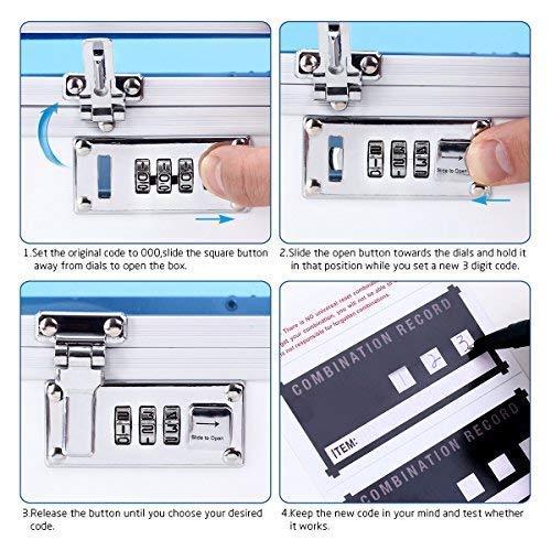51TwA4K0uAL - Caja de seguridad para medicamentos con cerradura para el cuidado de la salud, joyería, organizador de armario con combinación - doble capa