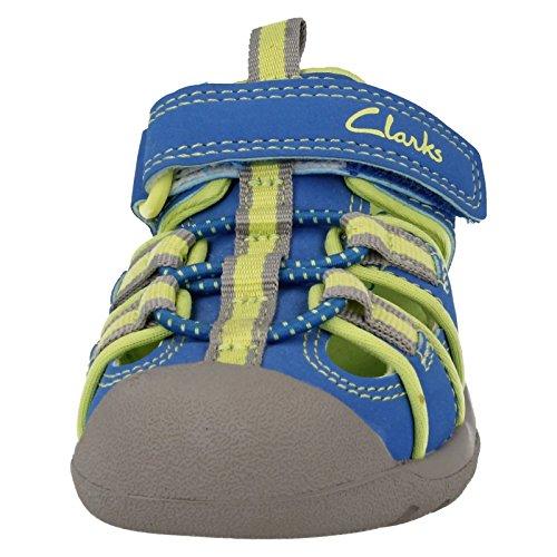 Clarks garçon-Collection Inf-synthétique Sandales de plage Bleu marée Bleu - bleu