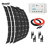 Giosolar 300 Watt 12 Volt Solarpanel-Kit monokristallines Panel mit 30A LED Laderegler für Wohnmobil Boot Solarladegerät Off-Grid System