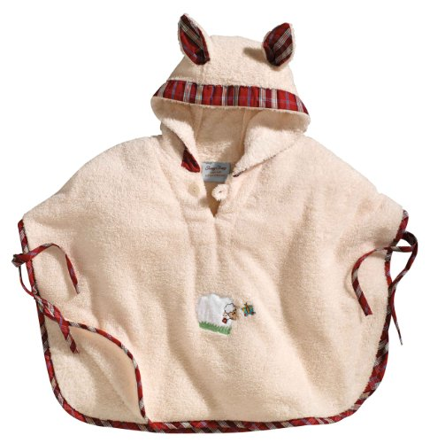 Morgenstern, Badeponcho, 1-3 Jahre (one size), Farbe natur, Sleepy Sheepy, aus super soft Microfaser