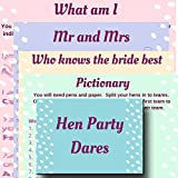 Hen Night Party Games Value Pack. 5 Hen Party Games: Mr & Mrs, Who knows the Bride Best, Pictionary, What Am I, & Hen Party Dares. From ice breakers to wild hen night games - get your hen night really going!