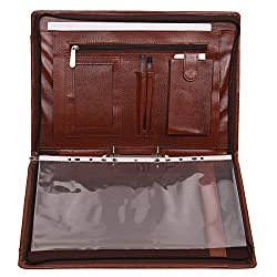 Leatherette Material I.E. Leather Imitation Files And Folders Bag For Documents. A Good Quality Stitched Document Holder,Certificate Bag For Keeping Your Important Documents. It Contains 6 Leafs Which Can Contain 12 Documents In Total. This Executive...
