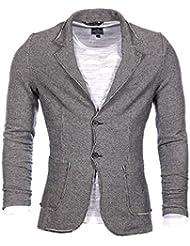 Carisma Homme - Veste blazer noir et blanc 5116
