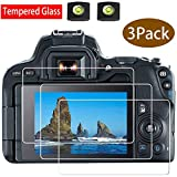 Lot de 2 films protecteurs d'écran 200D M100 pour appareil photo Canon EOS 200D M50...