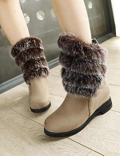 ShangYi Mode Frauen Schuhe Damenschuhe Stiefel Schnee / Fashion Stiefel Outdoor / Büro & Karriere / Casual Ferse Andere Braun