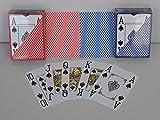 Unbekannt 2 x Wasserfeste Premium Poker Karten Jumbo Großer Index 4 Eckzeichen Corner Pips Pokerkarten 100% Plastik Spielkarten Neu Casino Cards Wasserabweisend