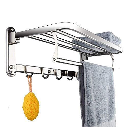 KISlink Badezimmer Rahmen multifunktions Edelstahl einzigen Stange gebürstet handtuchhalter lagerregal (größe: 50 cm) - Leder-zeitgenössische Möbel