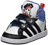 adidas Unisex Baby Hoops CMF Mid Sneaker, Weiß (Footwear White/core Black/solar Red), 25 EU